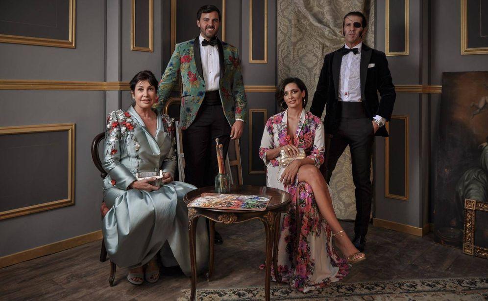 Foto: Carmen Martínez-Bordiú, Mario Niebla del Toro, Juan José Padilla y Lidia Cabello, en los Premios Escaparate. (Style Box Photos)