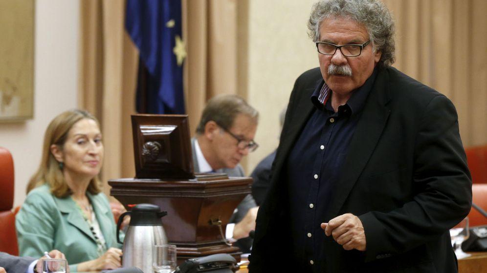 Foto: El portavoz de ERC, Joan Tardà, en el Congreso. (EFE)