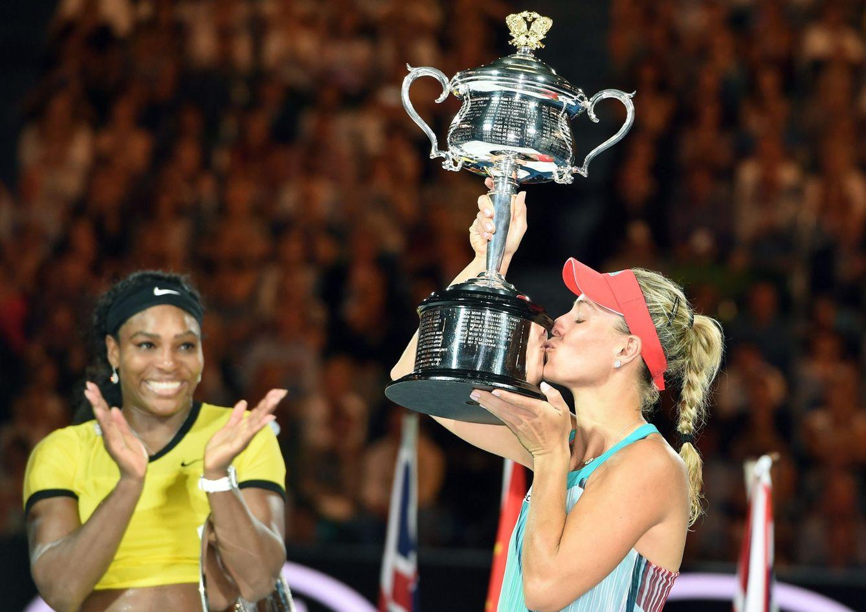 Foto: Kerber rompe la racha de Serena (EFE).