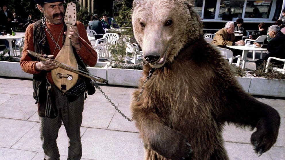 Los antiguos osos bailarines en Bulgaria