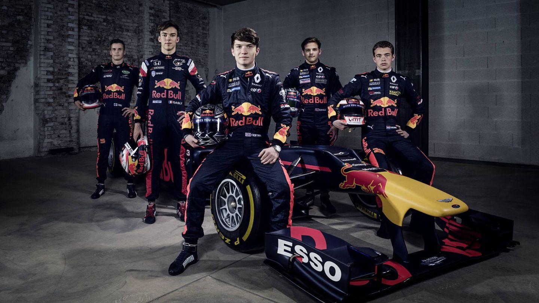 Los pilotos de la temporada 2017 del Red Bull Junior Team. (Red Bull)