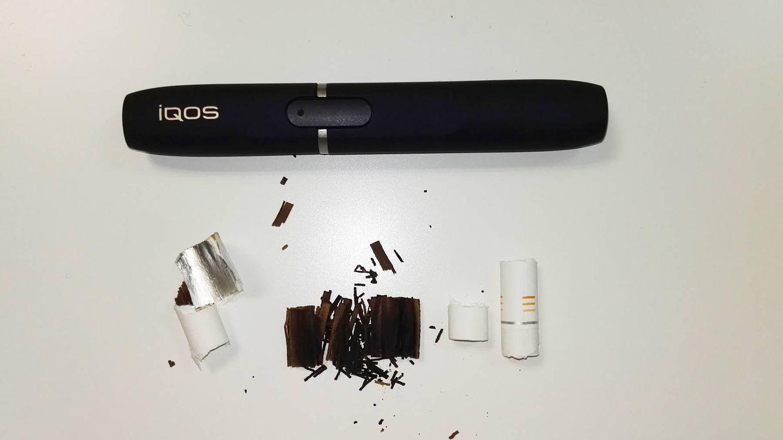 Restos del tabaco especial para fumar con IQOS. (Foto: C. Otto)