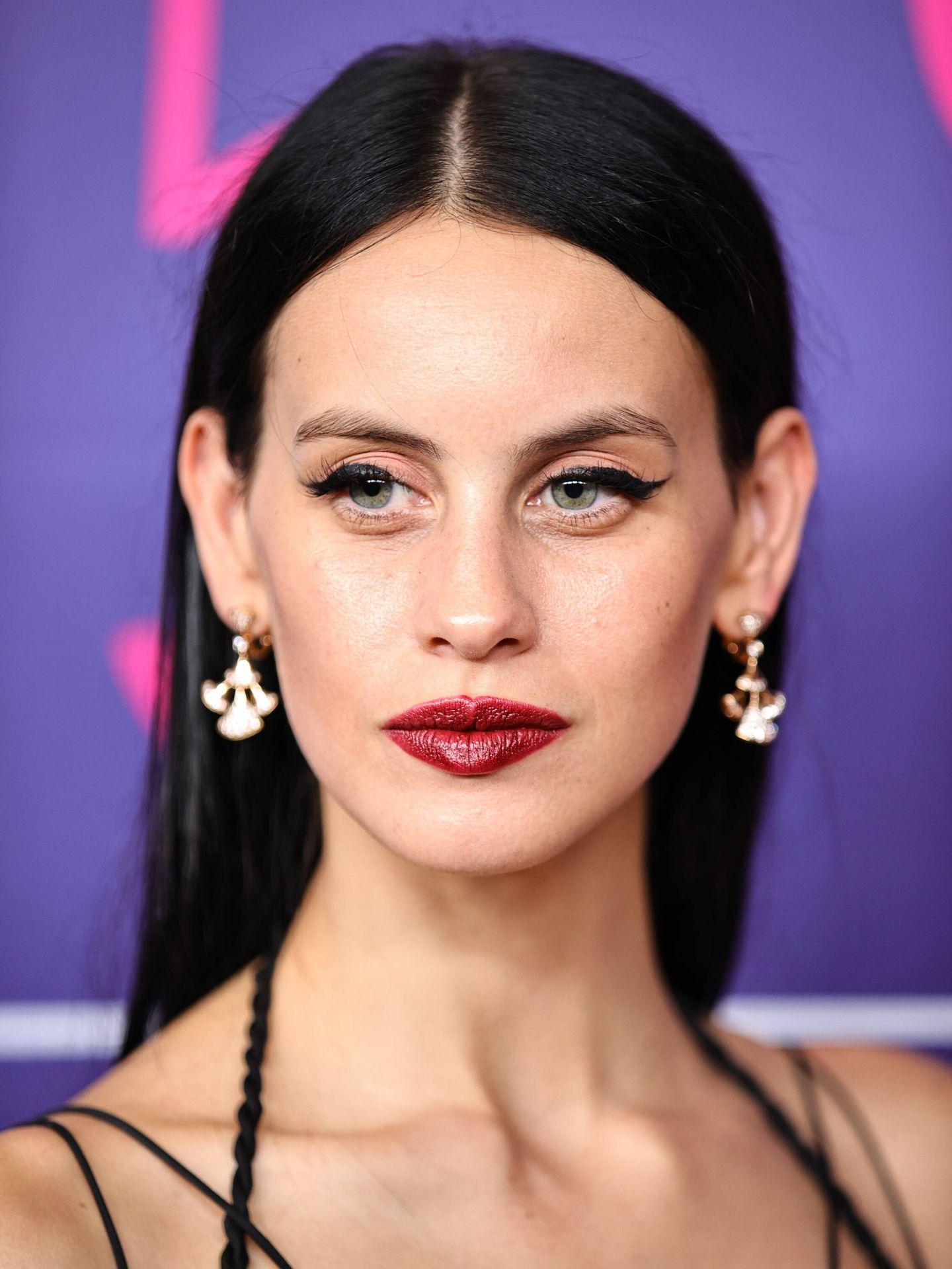Detalle del maquillaje de Milena Smit en el New York Film Festival. (Getty)