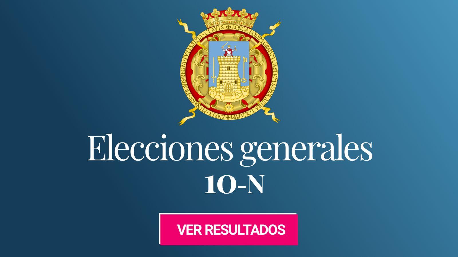 Foto: Elecciones generales 2019 en Lorca. (C.C./EC)