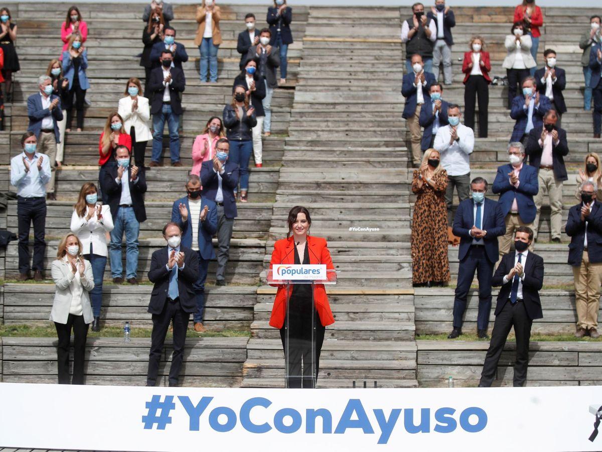 Foto: Isabel Díaz Ayuso en la presentación de su candidatura. (EFE)