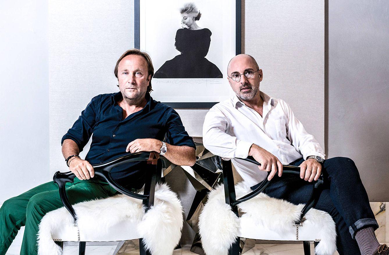 Foto: Damián Sánchez y Alfons Tost, en el espacio del Passatge Miramon. / MASSIMILIANO POLLES