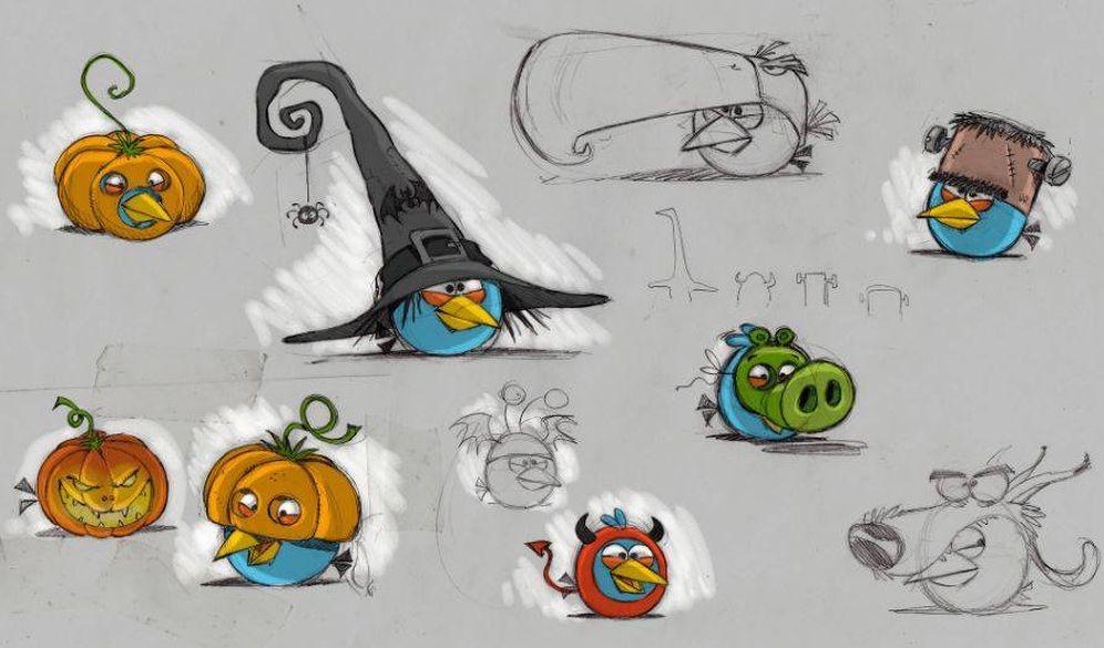 Foto: Bocetos de Miguel Francisco para el desarrollo de personajes (Fuente: Miguel Francisco)