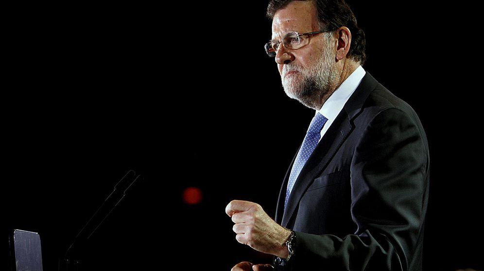 Foto: Mariano Rajoy durante el mítin en Orihuela (Alicante). (Reuters)