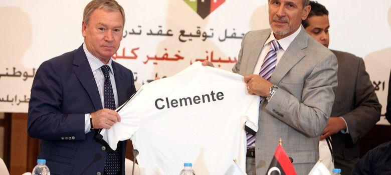 Foto: Javier Clemente, el día que fue presentado como seleccionador de Libia