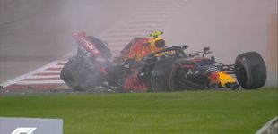 Post de El castañazo de Albon en Baréin que puede significar su adiós a la F1