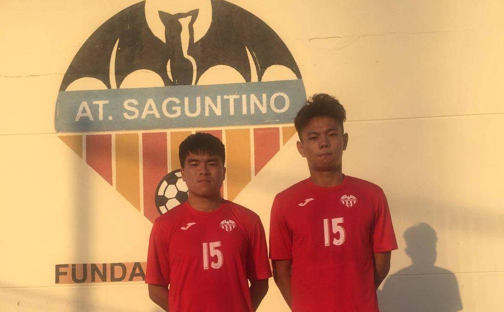 Foto: El Saguntino se estrena por vez primera en su historia en Segunda B y dos de sus principales refuerzos son Pin Lyu y Blao Deng