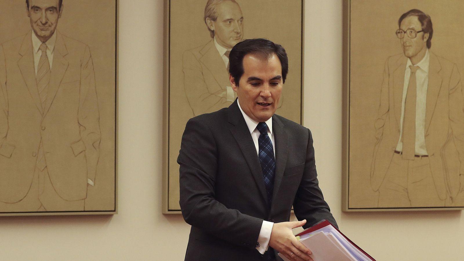 Foto: José Antonio Nieto, durante su comparecencia pública. (EFE)