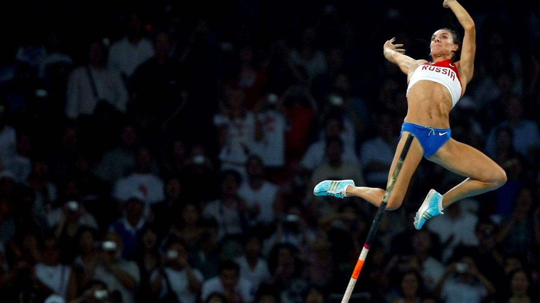 Isinbayeva, durante la final olímpica de Pekín 2008 (Reuters)