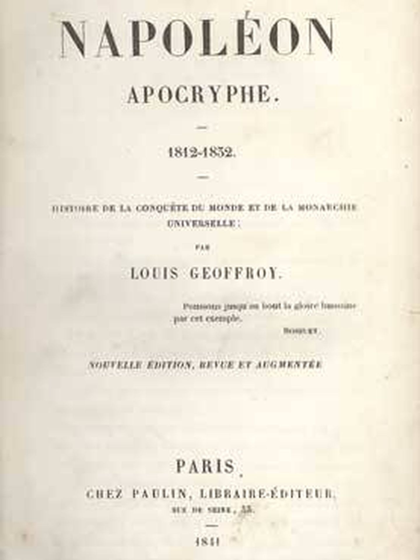 'Napoleón apócrifo'.