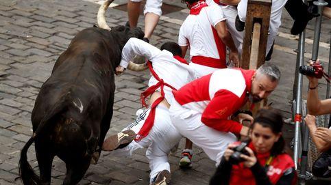 Séptimo encierro de San Fermín: los Jandilla dejan un herido por asta de toro