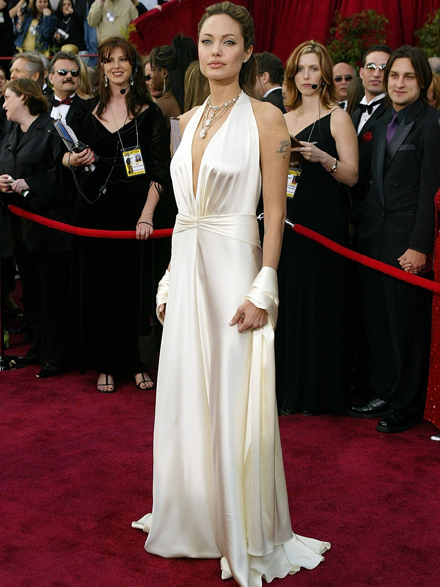 Angelina Jolie, en los Oscar de 2004. (Getty)