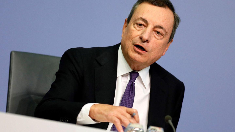El presidente del Banco Central Europeo (BCE), Mario Draghi en una rueda de prensa. EFE