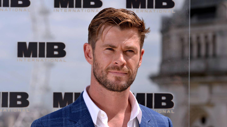 Hemsworth, promocionando su última película. (Getty)
