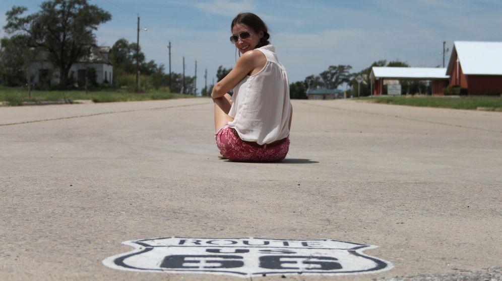 Foto: Erika en uno de sus viajes mientras fue au pair en EEUU
