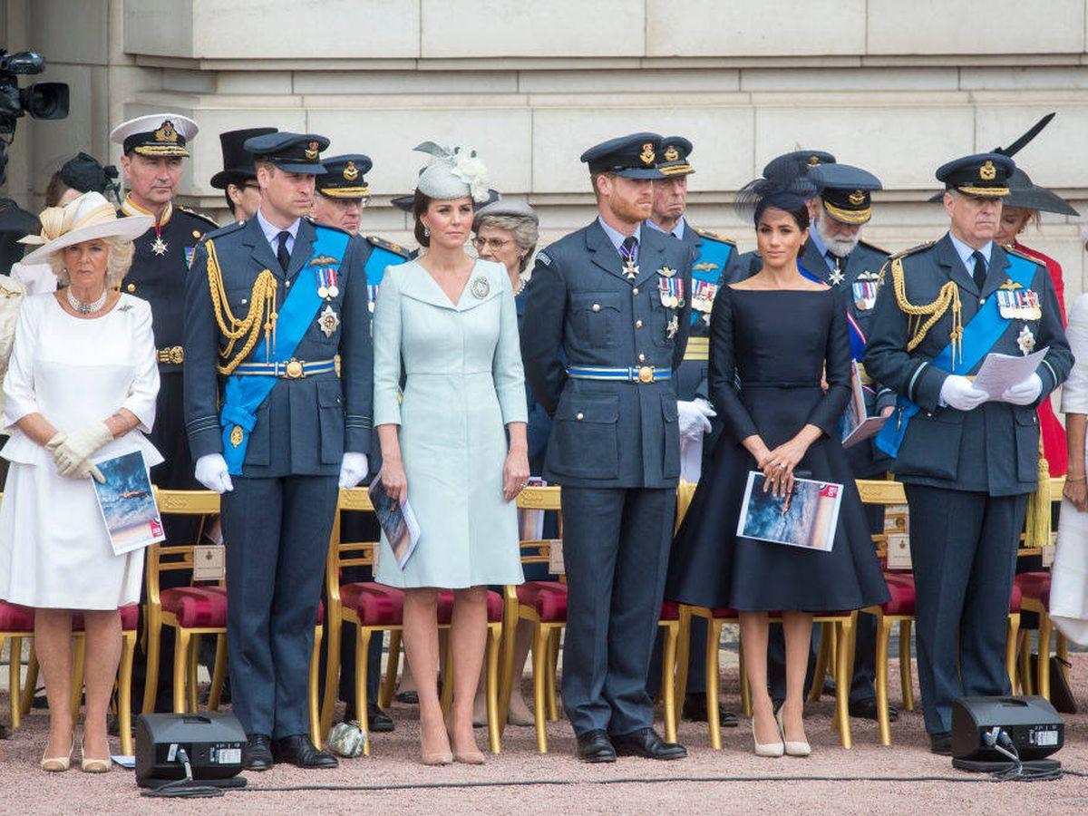 Foto: Meghan Markle junto al príncipe Andrés en una imagen de archivo. (Getty)
