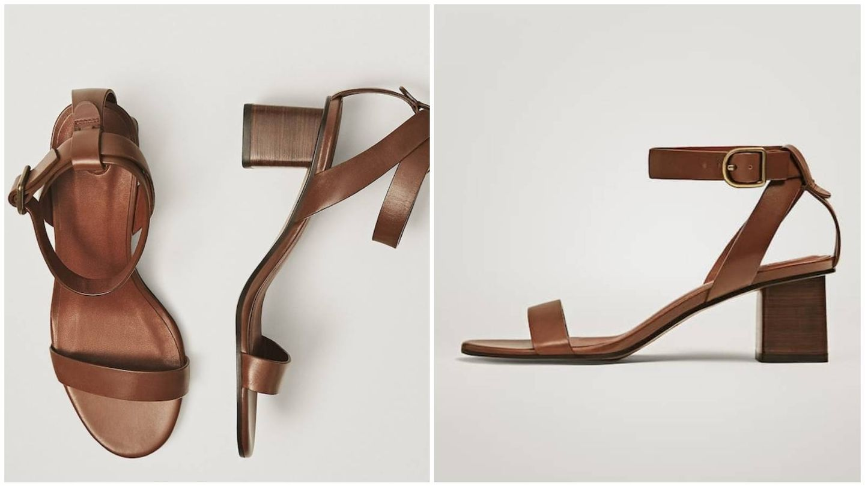 Sandalias básicas de rebajas en Massimo Dutti. (Cortesía)