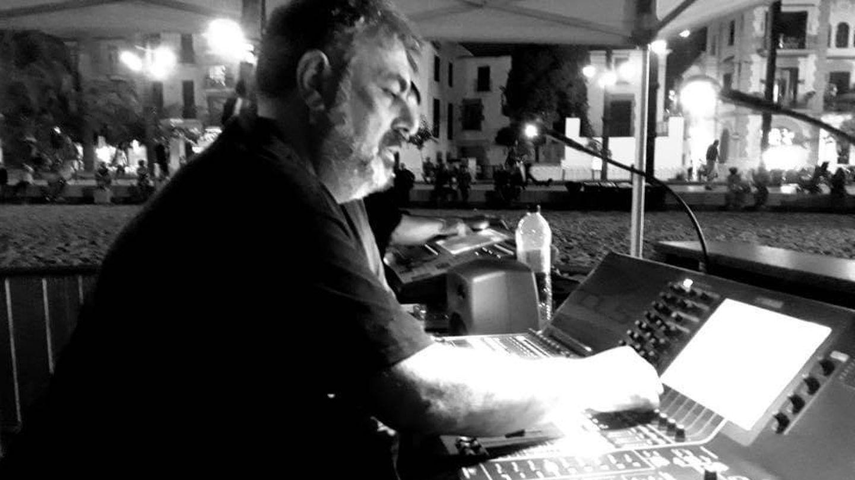 Andreu Hernández, técnico de sonido.