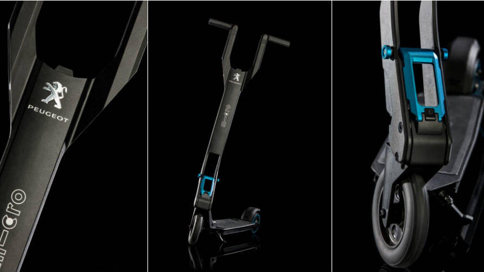 Foto: Plegable y con hasta 12 kilómetros de autonomía. Así es el e-Kick de Peugeot. (Foto: Cortesía)
