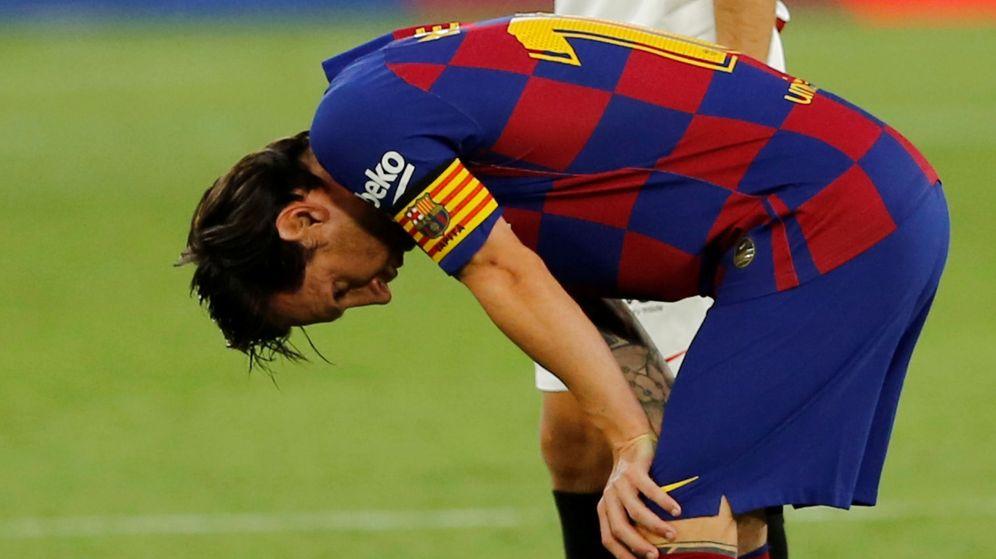 Foto: Messi lamenta una ocasión contra el Sevilla (Reuters)