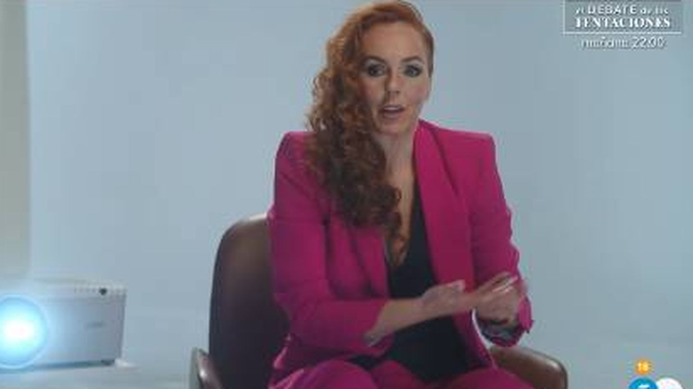 Rocío Carrasco, en un momento del documental. (Mediaset)