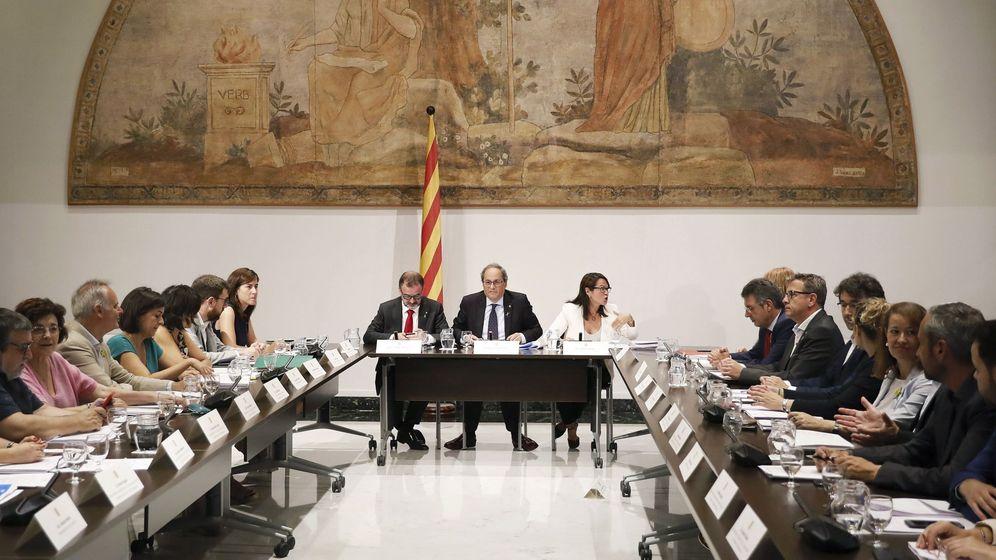 Foto: Quim Torra en una reunión del Diplocat, el Consejo de Diplomacia Pública de Cataluña. (EFE)