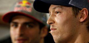 Post de Carlos Sainz, bajo el tiroteo cruzado de Daniil Kvyat y del equipo Haas