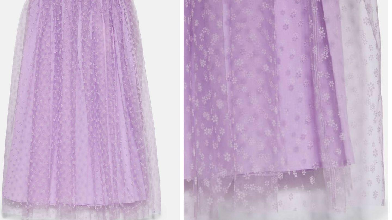 Nueva falda con inspiración Hollywood en Zara. (Cortesía)