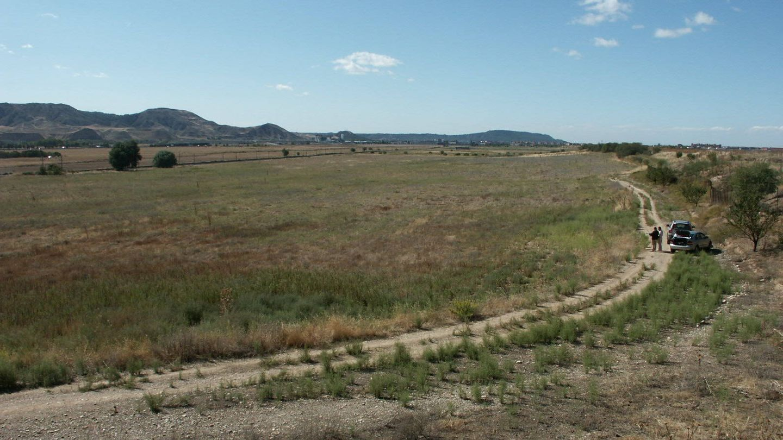 Los terrenos de la finca pública El Encín, en una foto en octubre de 2008, antes del campo de golf.