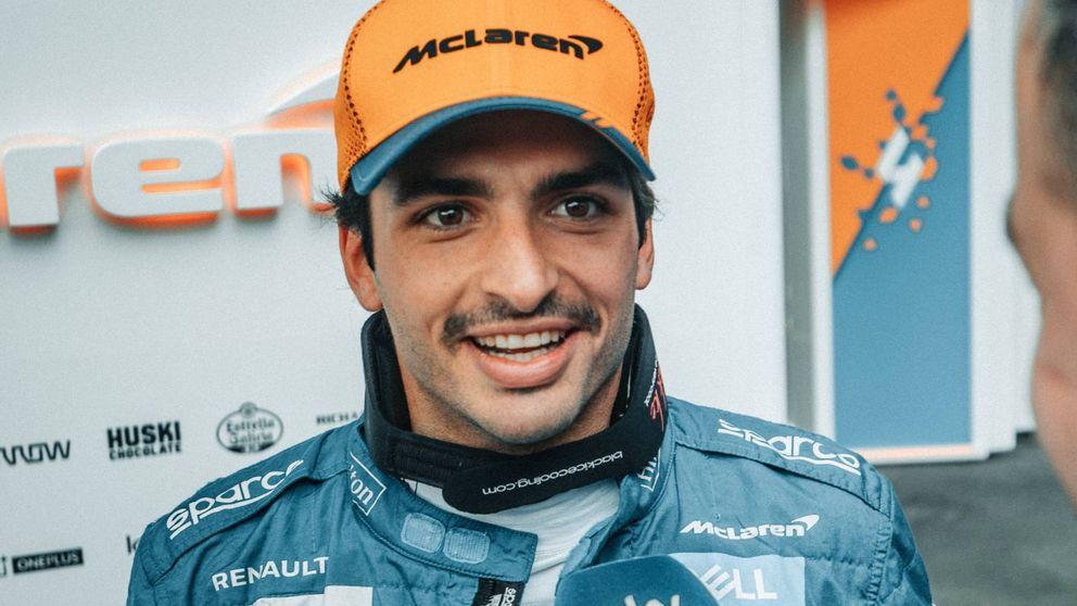 Carlos Sainz, más seguro de las opciones de McLaren que de su bigote mexicano