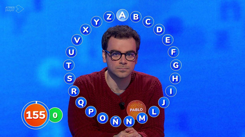 Pablo tiene su primera duda con la letra 'A'. (Atresmedia)