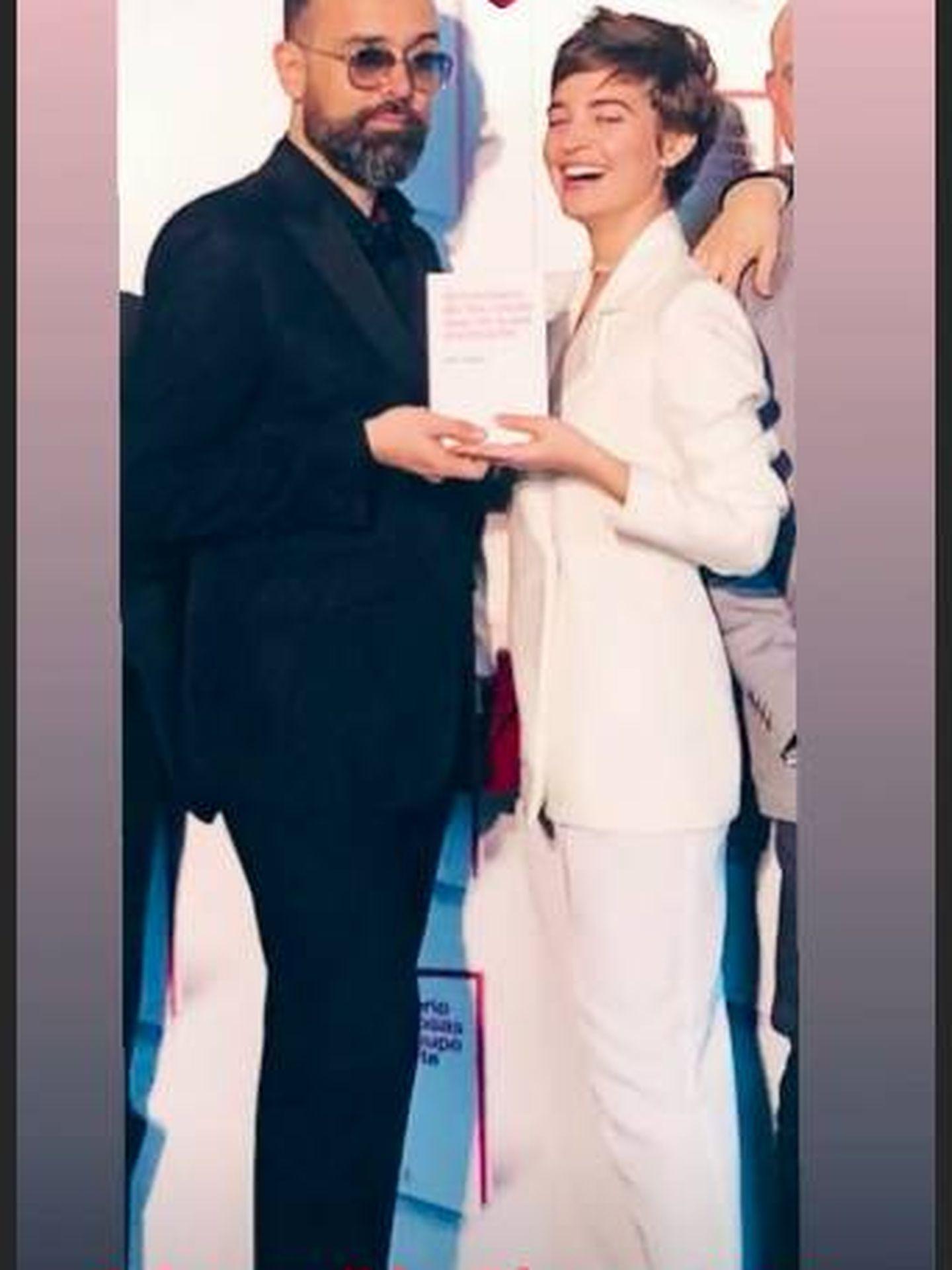 La pareja en la presentación del libro de Risto Mejide en un storie subido por la estilista Pilar Fernández. (Instagram)