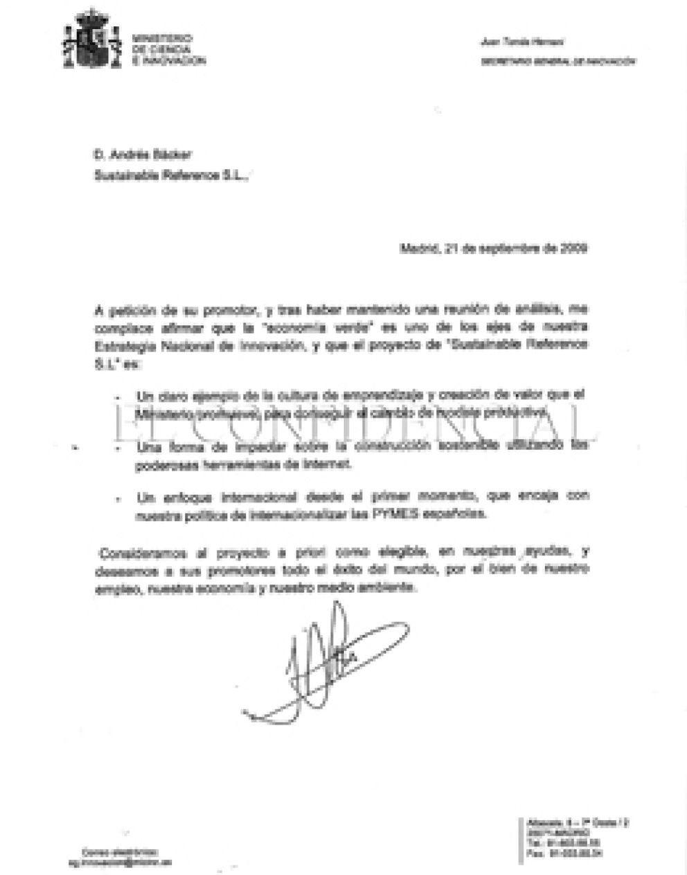 Foto: Un alto cargo del Gobierno medió para que una empresa recibiera dinero de su propio Ministerio