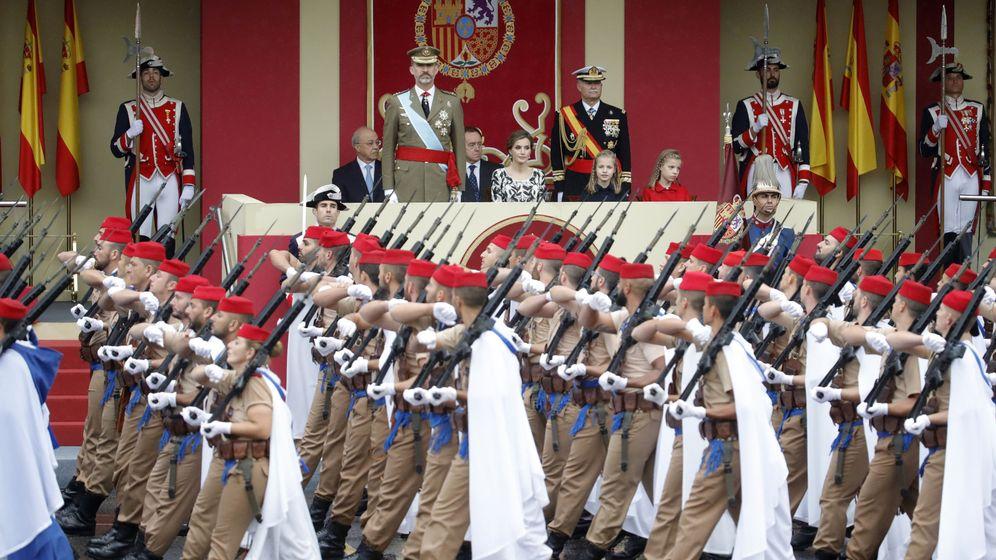 Foto: Grupo de Regulares durante el último desfile militar el pasado 12 de octubre. (EFE)