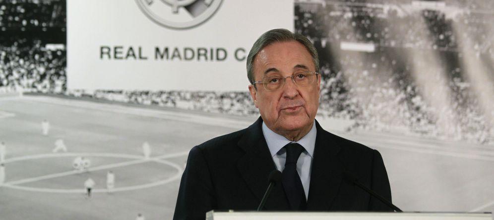 Foto: Florentino Pérez ha colocado en el Real Madrid a Lorenzo Sanz Durán, hijo del que fuera presidente blanco (EFE)