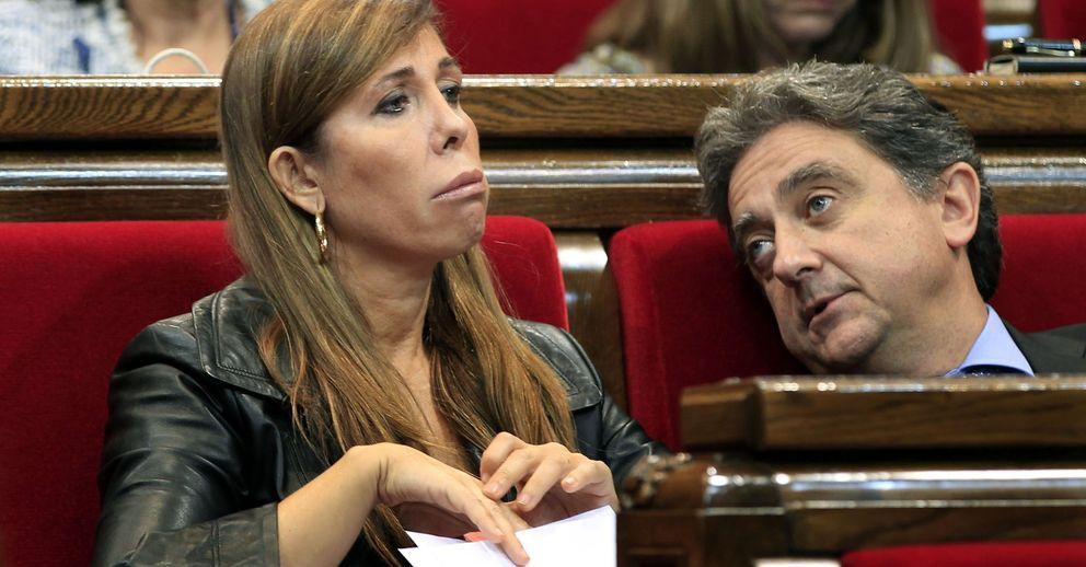 La presidenta del PPC, Alicia Sánchez Camacho, junto al portavoz de su partido, Enric Millo. (EFE)