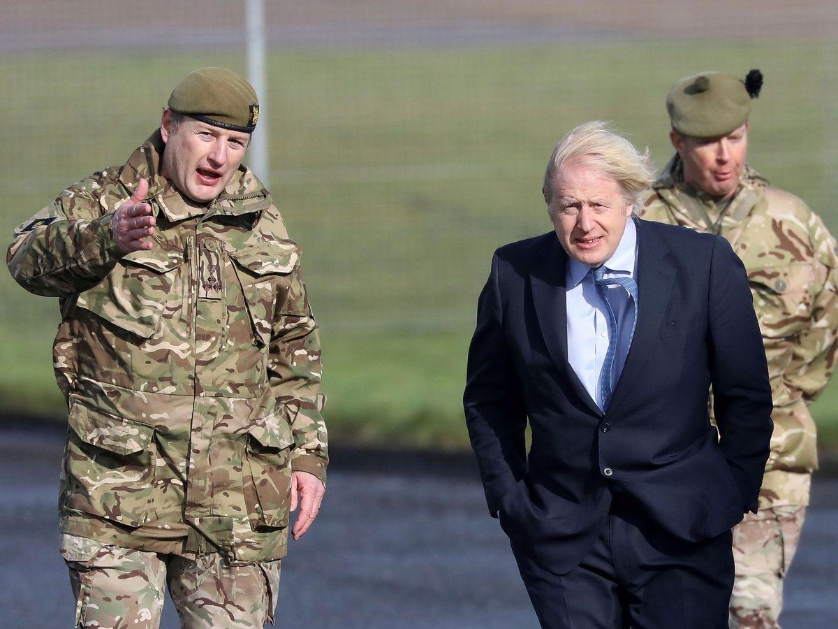 Image: British Prime Minister Boris Johnson during his visit to Northern Ireland.  (Reuters)