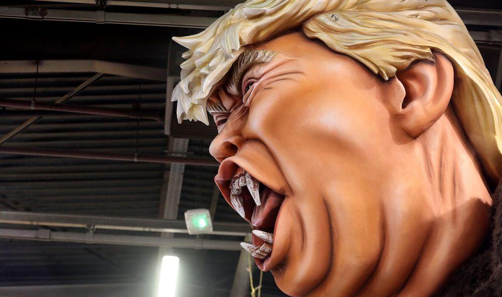 Foto: Vista de una figura de carnaval que representa al presidente estadounidense, Donald J. Trump. (EFE)