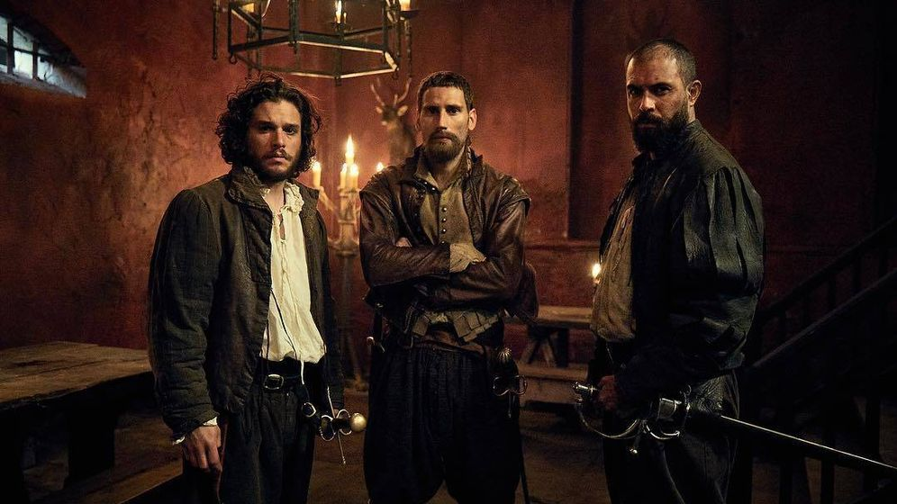 Foto: Robert Catesby (Kit Harington), Thomas Wintour (Edward Holcroft) y Guy Fawkes (Tom Cullen) en 'Gunpowder'.