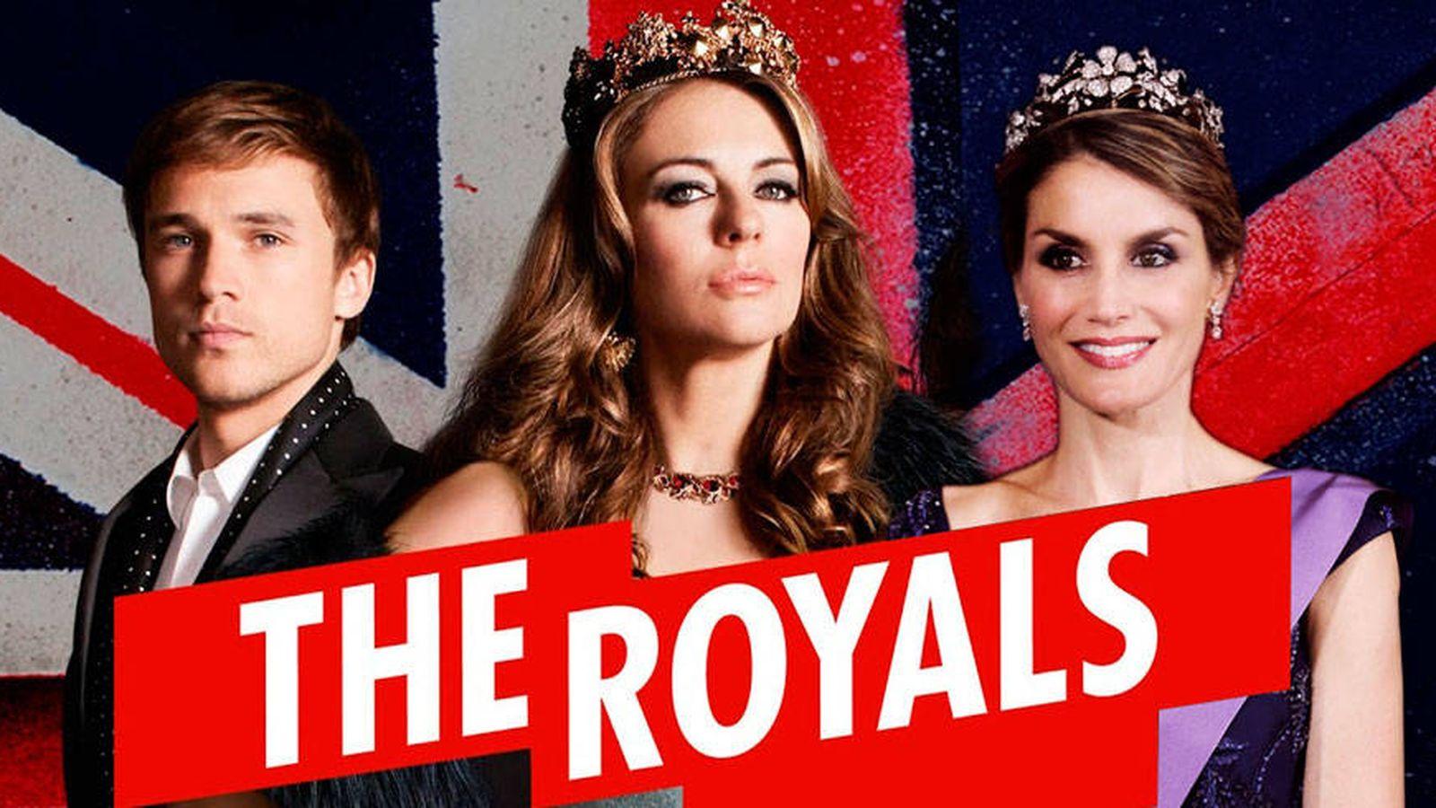 Foto: La Reina en 'The Royals' en un fotomontaje realizado por Vanitatis