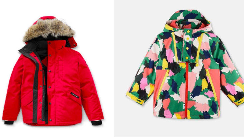 Los abrigos de Harper Beckham.
