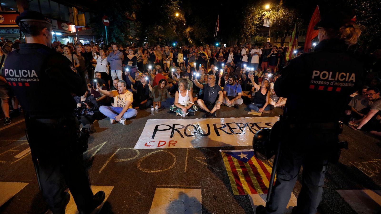Foto: Independentistas en Cataluña. (Reuters)