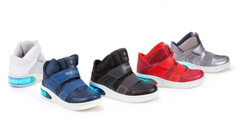 Las zapatillas con luces de Geox. (Foto: Cortesía)