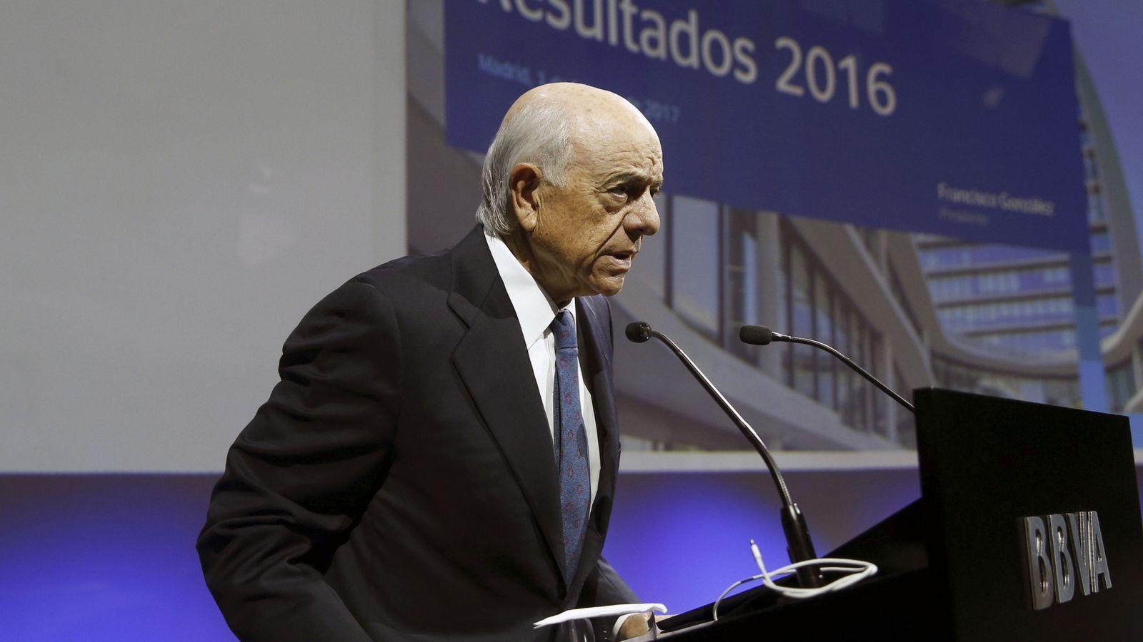 Foto: Francisco González, presidente de BBVA.