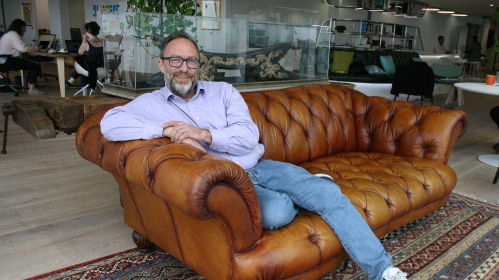 Foto: Jimmy Wales, fundador de la Wikipedia y Wikitribune. (Foto: Celia Maza)