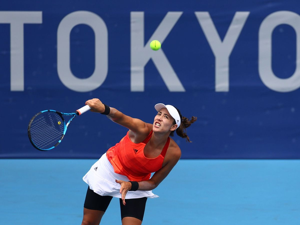 Foto: Garbiñe Muguruza contra Wang Qiang en Tokio (Reuters)